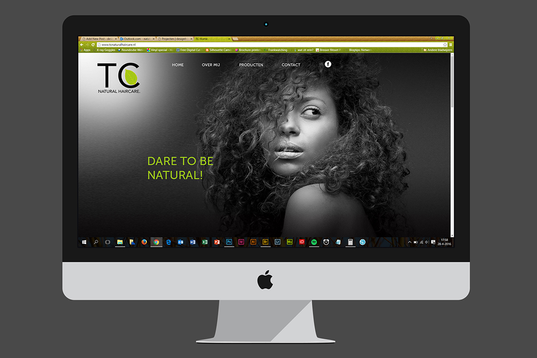 Website & visitekaartje TC Natural Haircare