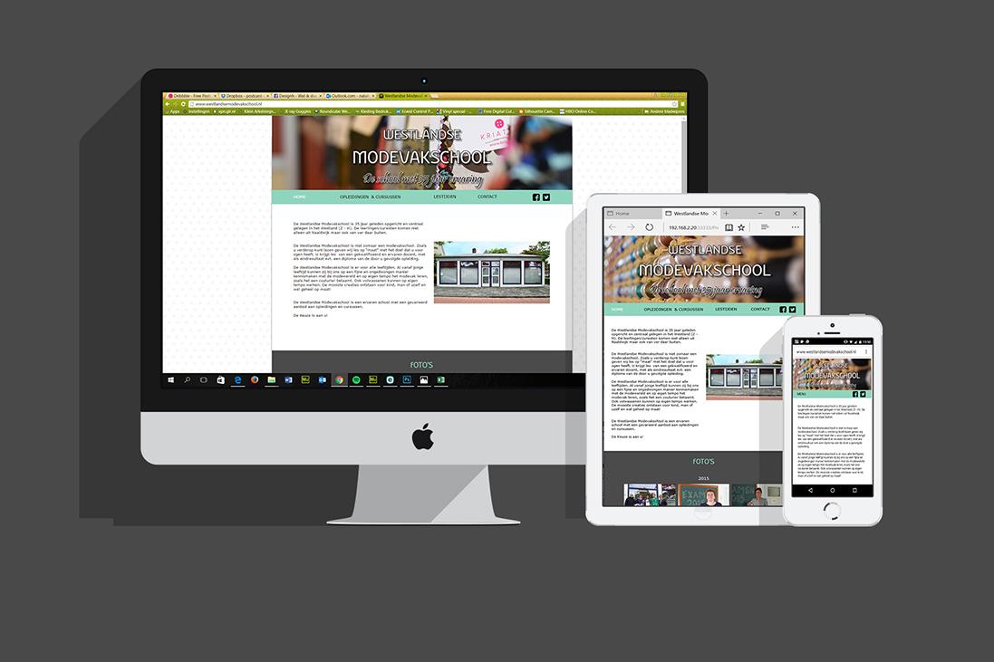 Website & fotografie Westlandse Modevakschool